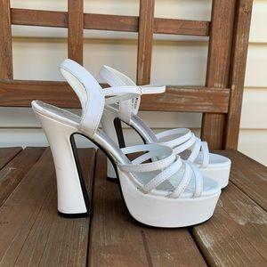 pleaser | dolly 25 | y2k strappy platform heels